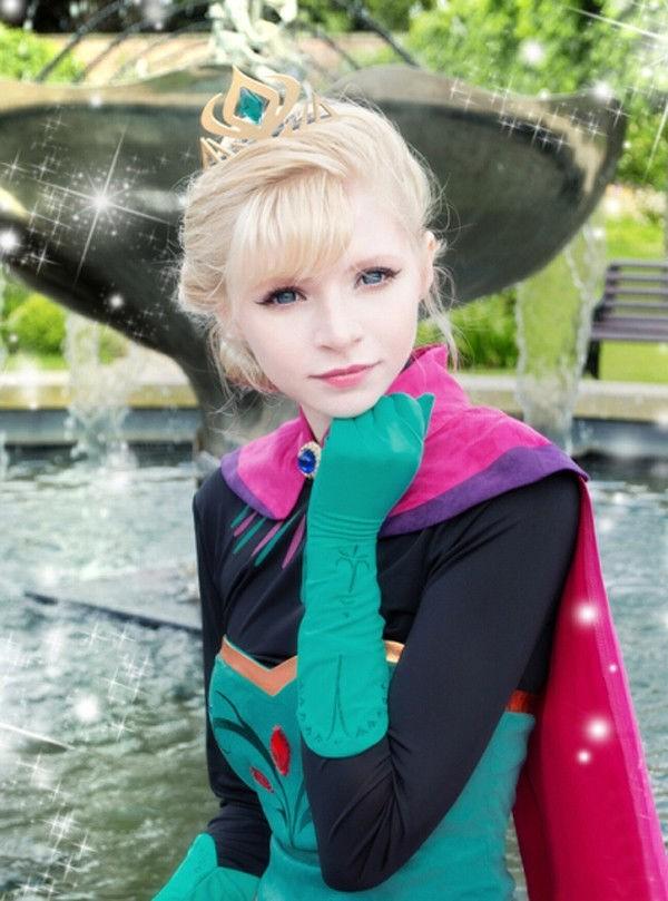 coole faschingsverkleidung prinzessin karneval kostüm eleganz mantel krone fasching ideen