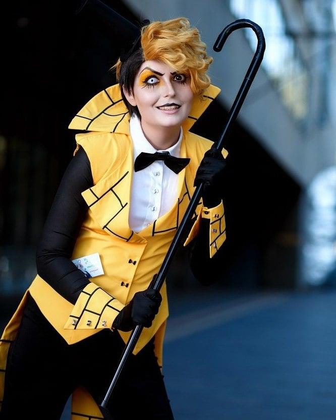 coole faschingsverkleidungen kostüm frauen fasching ideen haar gelb augen