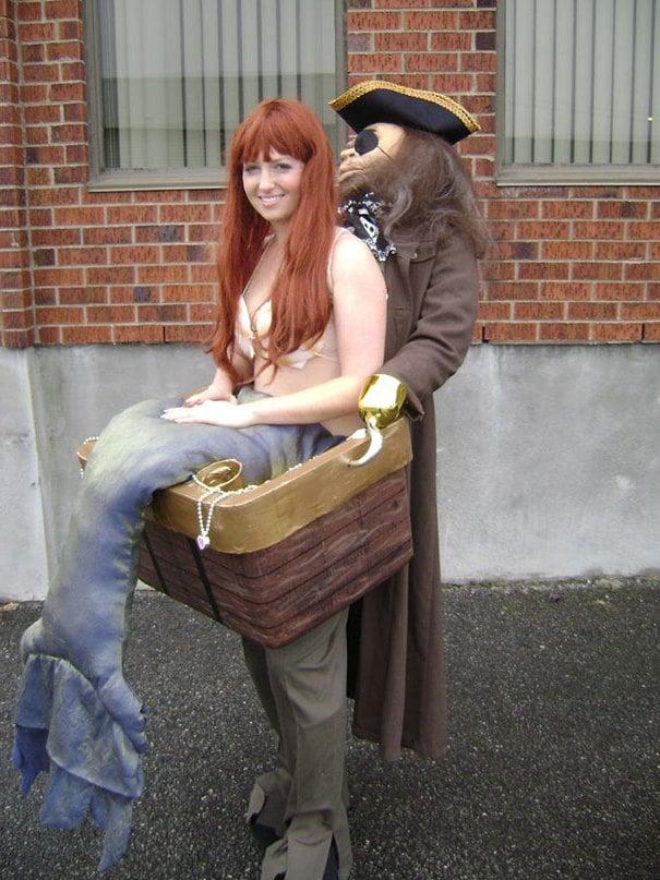 coole kostüme für zwei seejungfrau pirat verkleidung fasching ideen