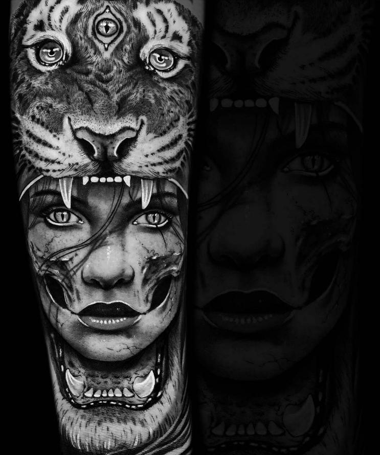coole tattoo ideen tier kopf frauen tattoo motive frauen tattoos männer daniel silva tattoos