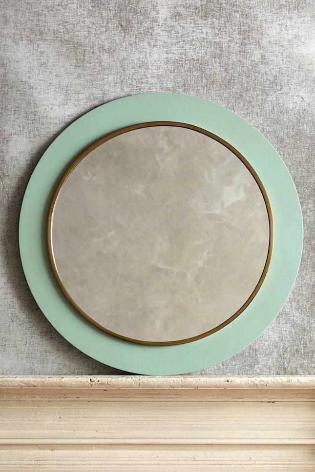 deko ideen badezimmer rundes badaccessoire grün bad ideen