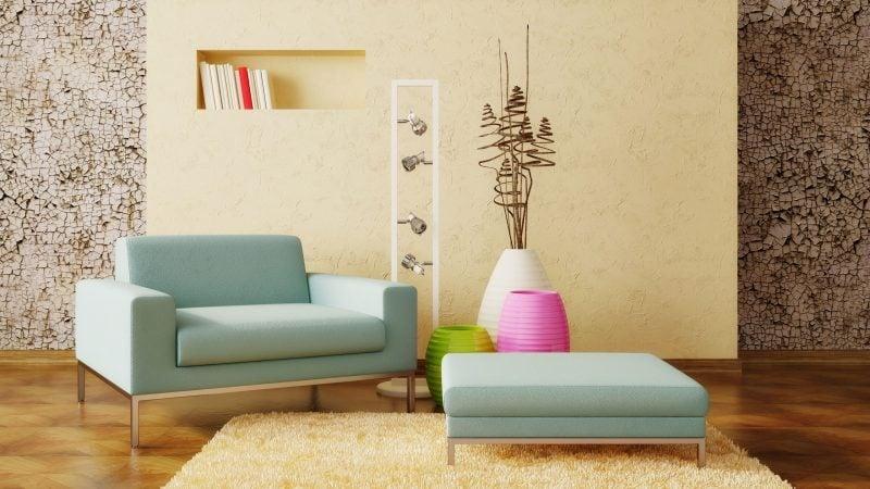 deko ideen wohnung dekorieren sofa kunstblumen lampen