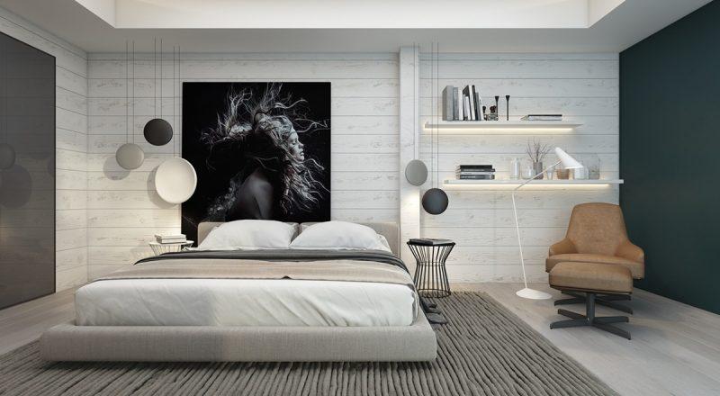 dekoideen schlafzimmer einrichten hönger