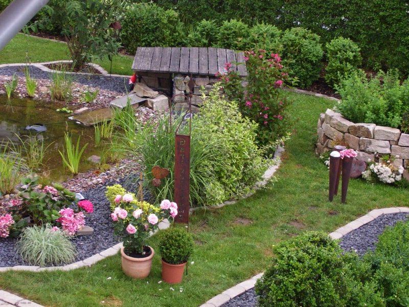 Gartengestaltung Ideen Kleingarten herrlicher Look