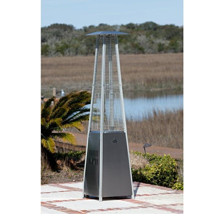 edelstahl gas pyramidenheizer terrassenheizung ideen design
