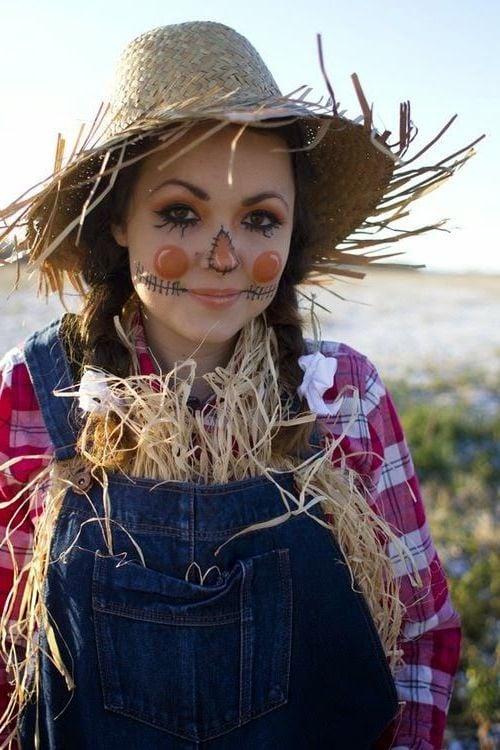 einfache faschingsverkleidung strohmann kostüm ideen hut