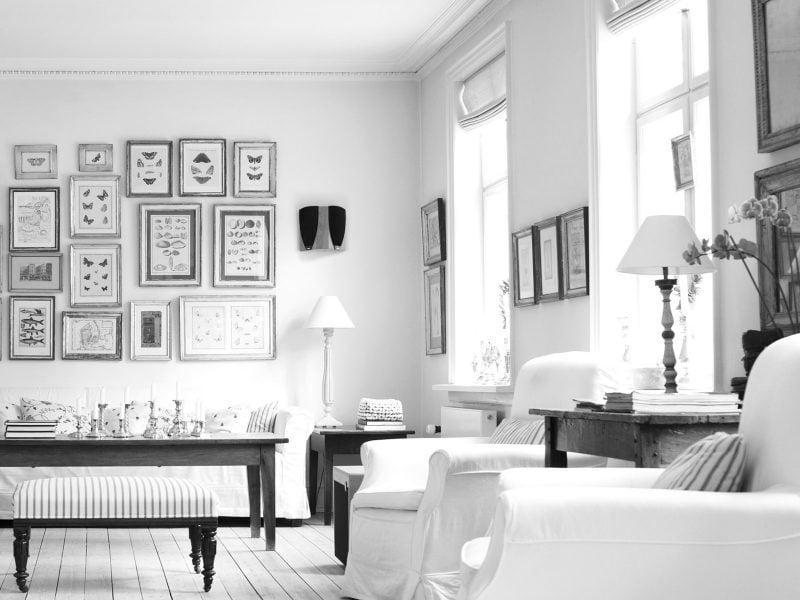 einzigartig design möbel landhausstil weiß sofa sessel tisch einrichten wohnzimmer wohnideen
