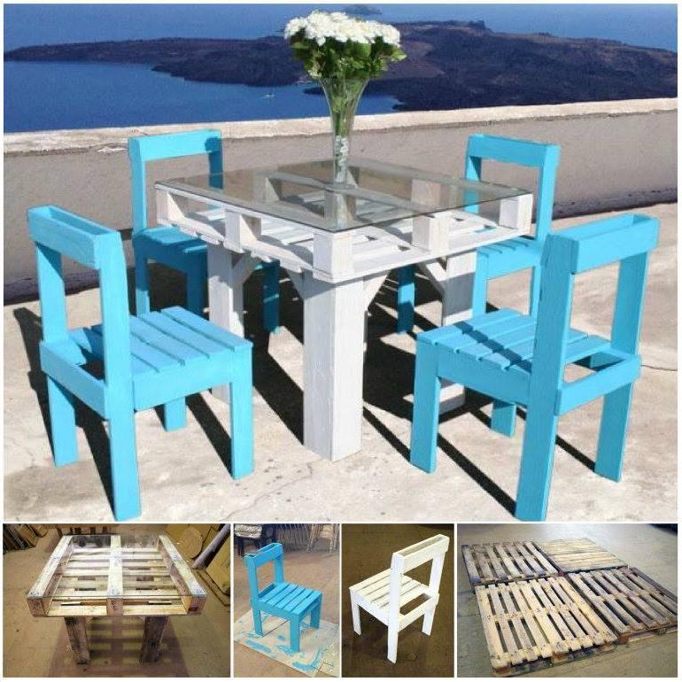 esstisch tisch aus paletten paletten möbel selber bauen stuhl paletten möbel