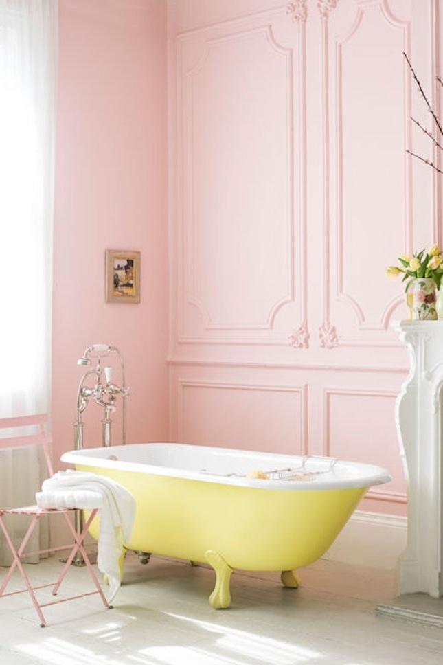 Frischer Look Moderne Badezimmer Ideen Badewanne Rosa Bad Ideen