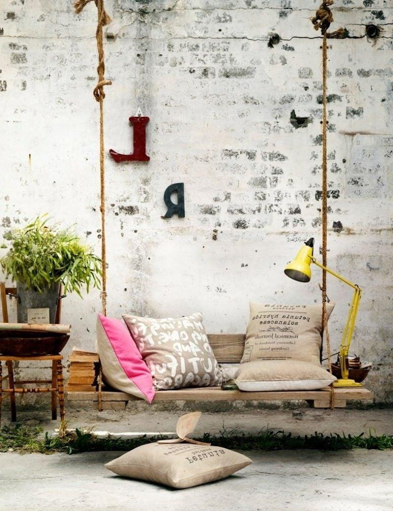 gartenmöbel aus paletten schaukel aus paletten palettenmöbel selber bauen