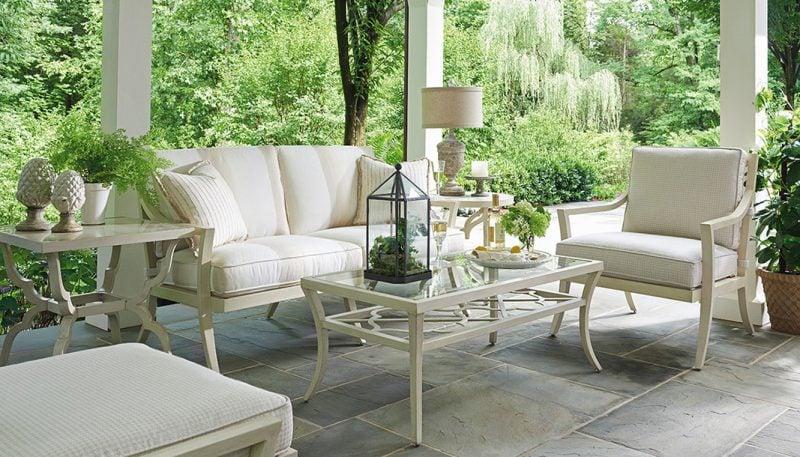Hochwertige Gartenmöbel: Gartengestaltung in Weiß!