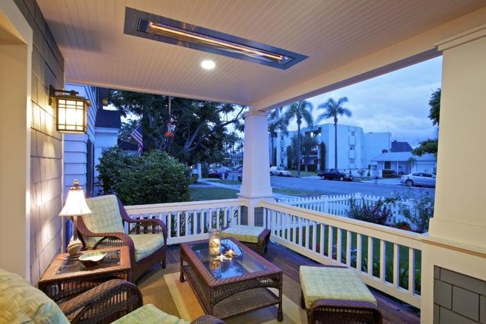 gasheizung ideen naturlicht warm terrassenheizung dach