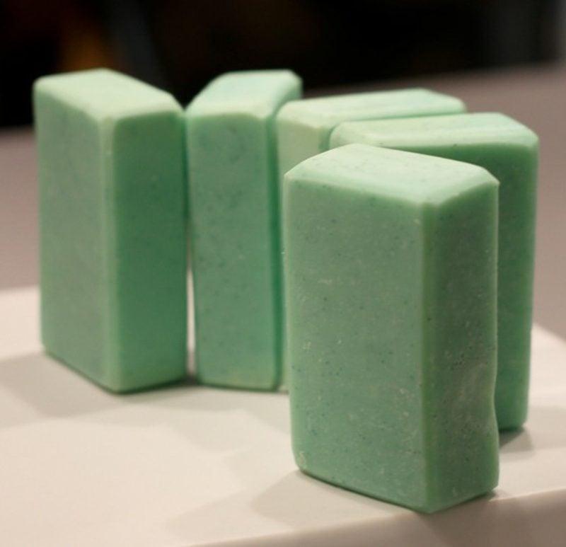 grüne Seife kreative DIY Ideen