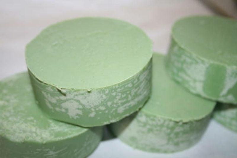 grüne Seife Naturprodukt selber gemacht