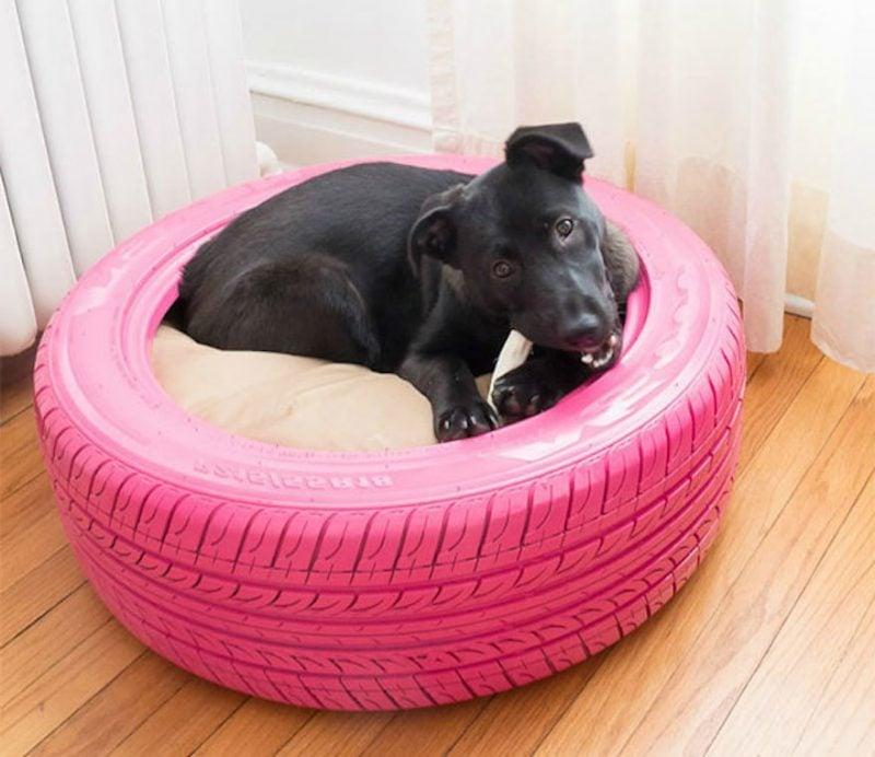 Bett aus Autoreifen für Ihren Hund!