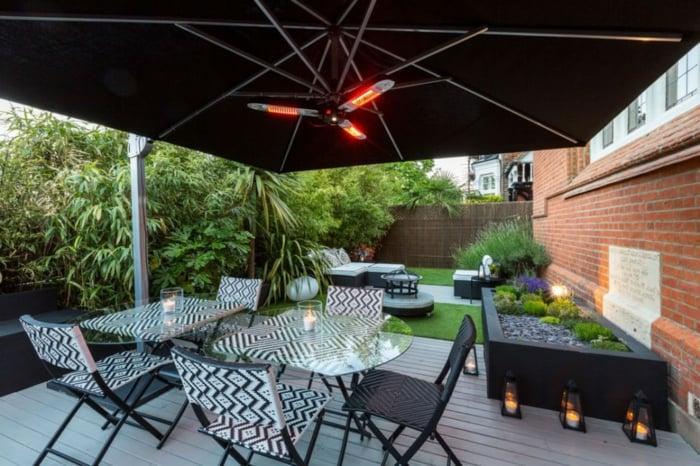 heizstrahler terrassenheizung ideen design terrasse einrichten ideen