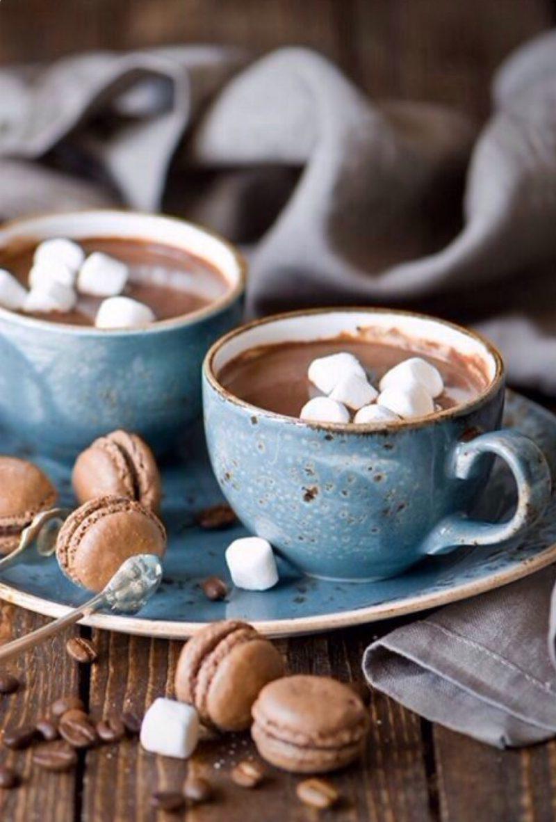 Hyggelig wohnen - heiße Schokolade genießen