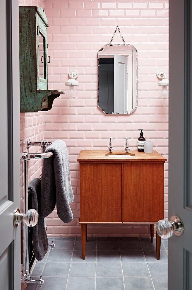 indusrial stil badezimmer ideen spiegel waschtisch