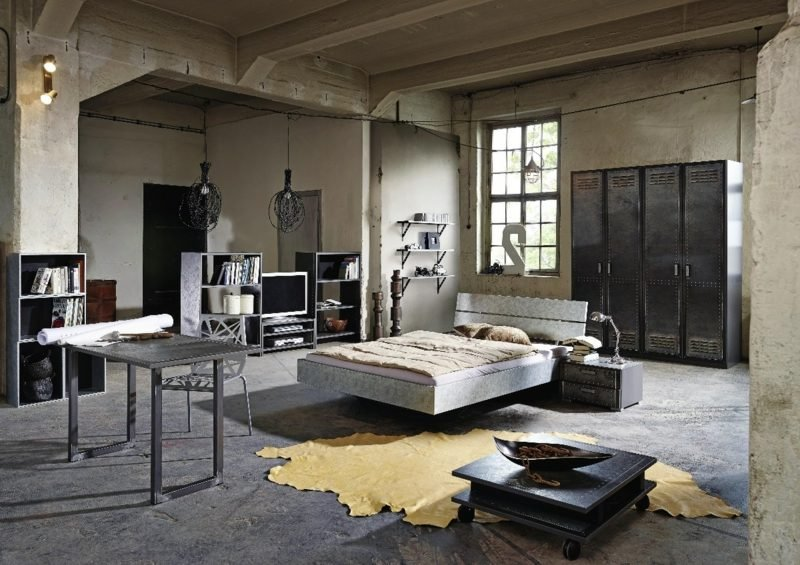 m bel industrial wohnzimmer inspiration ber haus design. Black Bedroom Furniture Sets. Home Design Ideas