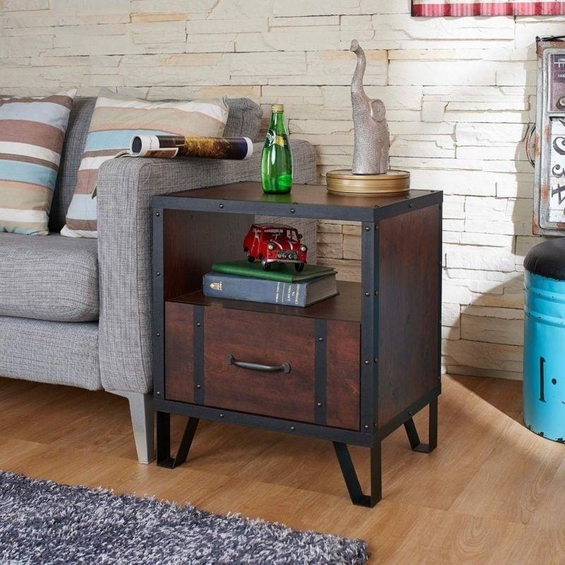industrial möbel furniture vintage nightstand