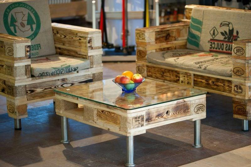 kaffetisch tisch aus paletten palettenmöbel
