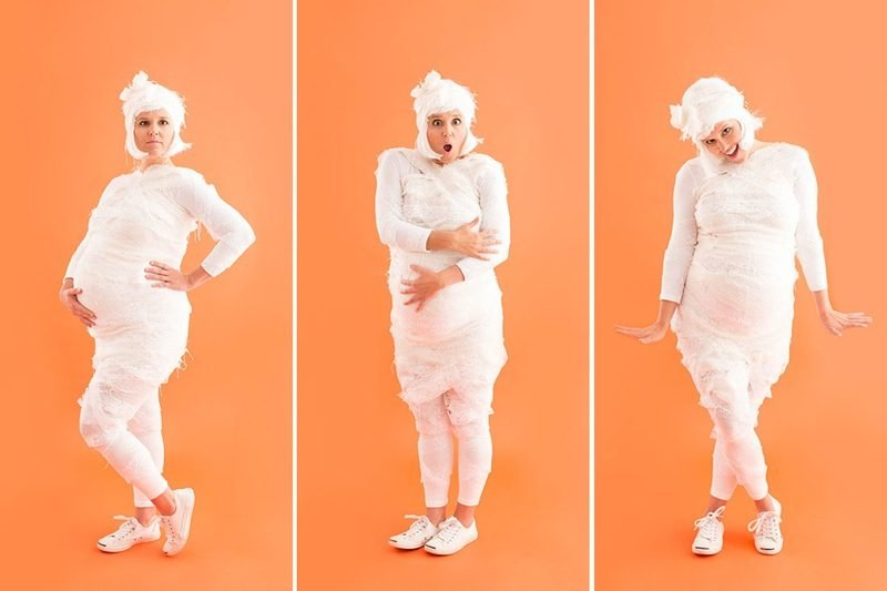 Kreative Idee für Karnevalskostüm für Schwanger