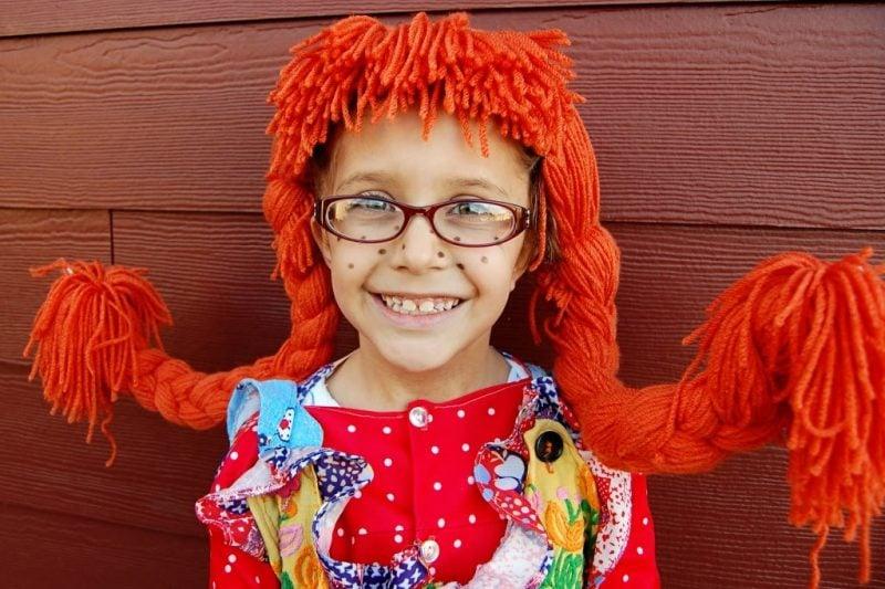 Pippi Langstrumpf Kinderkostüm Kinderschürze Nähen Anleitung