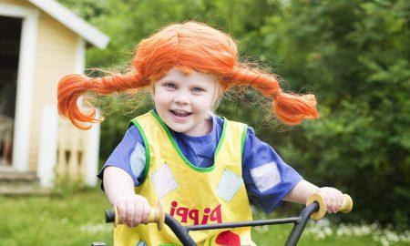 Kinderschurze nähen - Pippi Langstrumpf Fasching Kinderkostuem