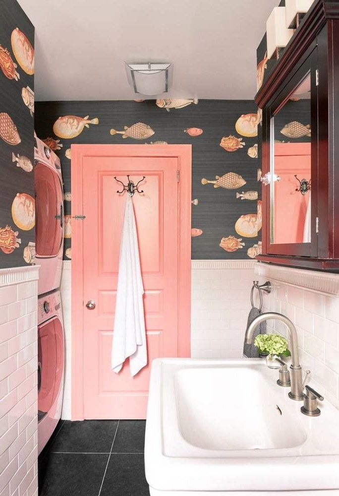 kleine badezimmer ideen rosa frisch bad ideen waschbecken badewanne