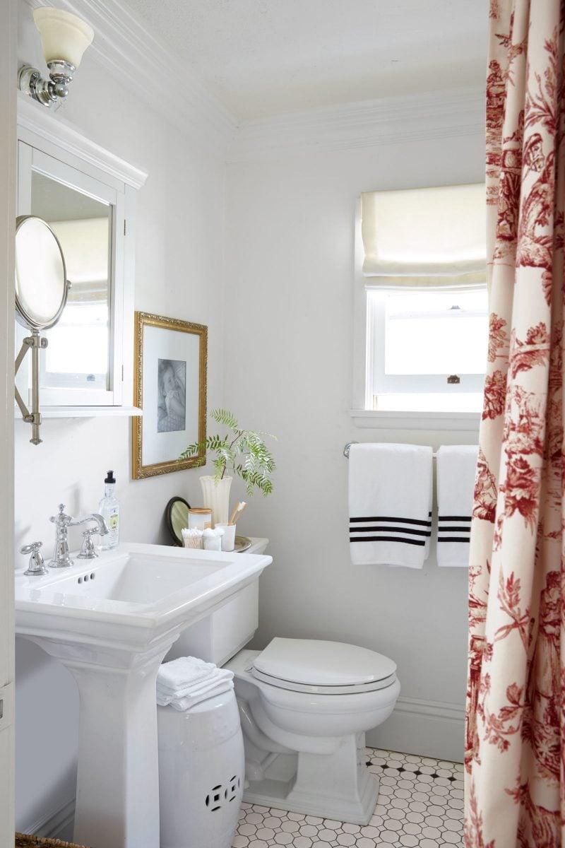 kleines badezimmer ideen vorhang als tür modernes bad ideen