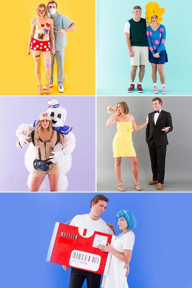 Lustige und einfache Paar Kostüme