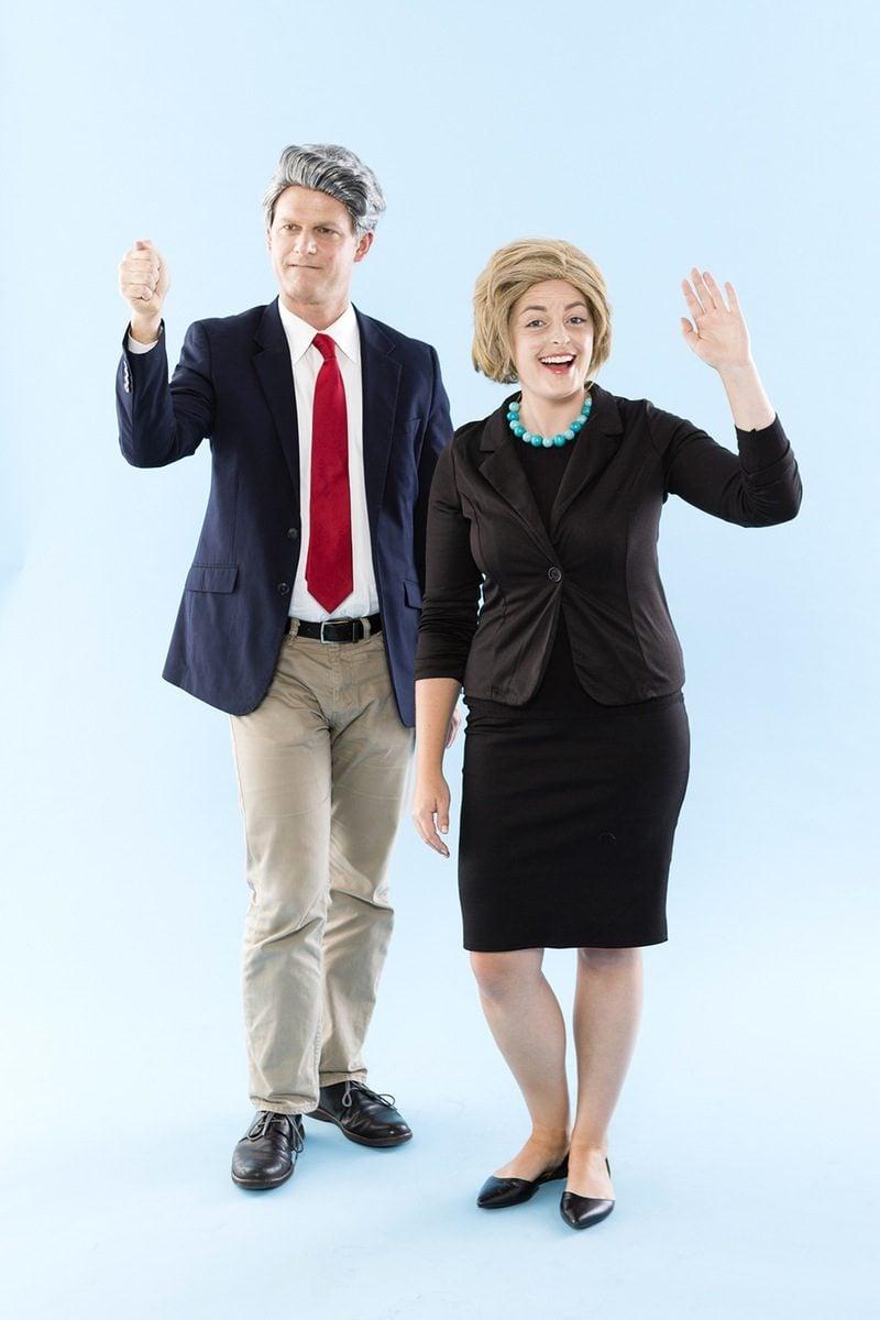 Einzigartige Karnevalskostüme: als Bill und Hillary Clinton verkleiden
