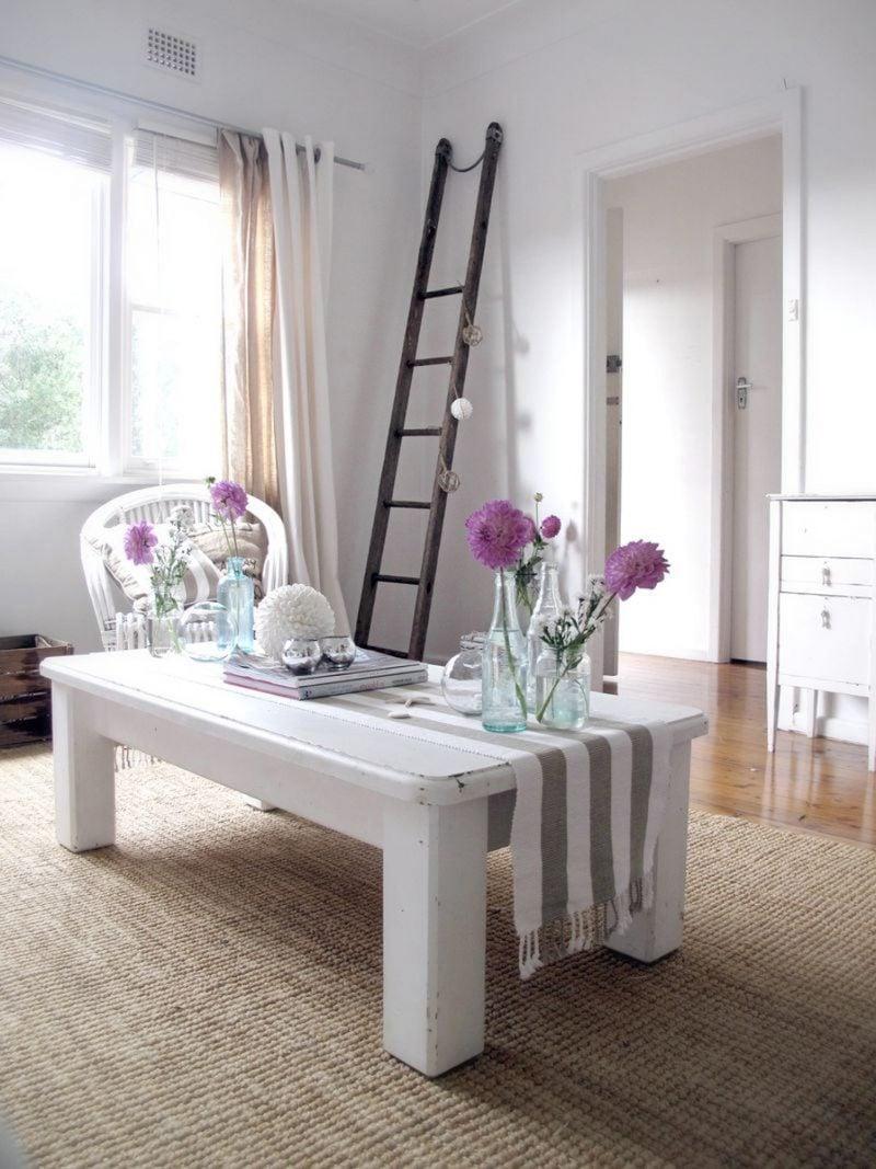 landhaus möbel weiß tisch holz modern einrichten design dekoideen