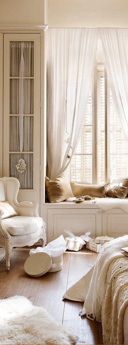 landhausmöbel weiß stuhl schlafzimmer einrichten