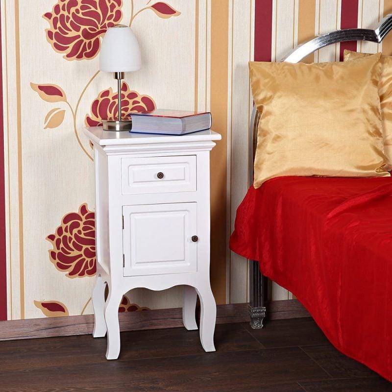 landhausstil möbel modern weiß nachttisch schlafzimmer einrichten dekoration