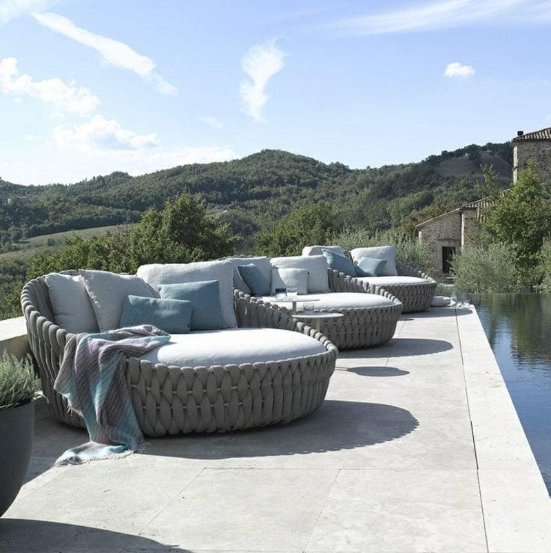 Attraktive Loungemöbel Outdoor Möbel Terrassen Veranda