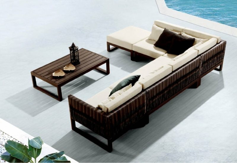 loungemöbel outdoor Sitz und Rückenkissen outdoor loungemöbel
