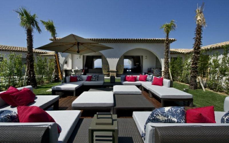 loungemöbel outdoor exterior ideen - kleine eckcouch