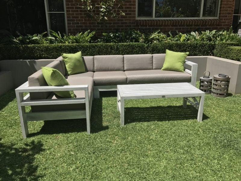 loungemöbel outdoor paradiesischen kleine eckcouch
