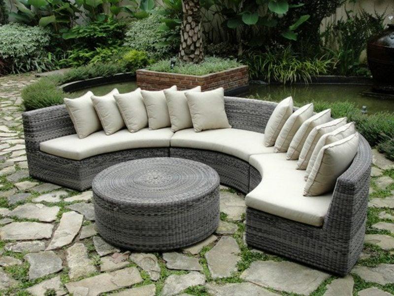 loungemöbel outdoor schicke ratanmoebel polyrattan möbel