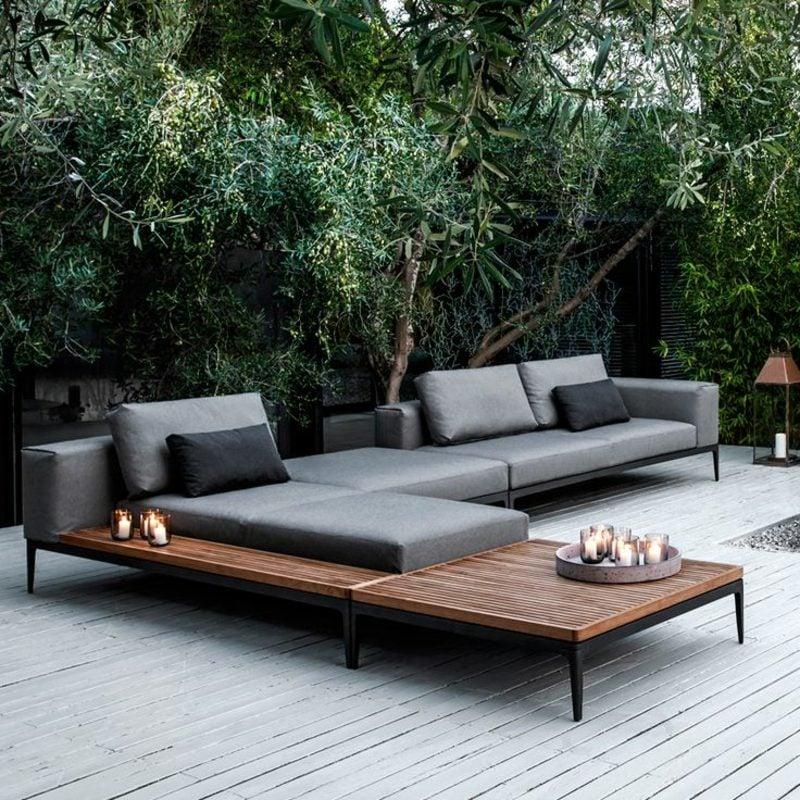 loungemöbel outdoor balkonmöbel schlichte und stringente Formgebung