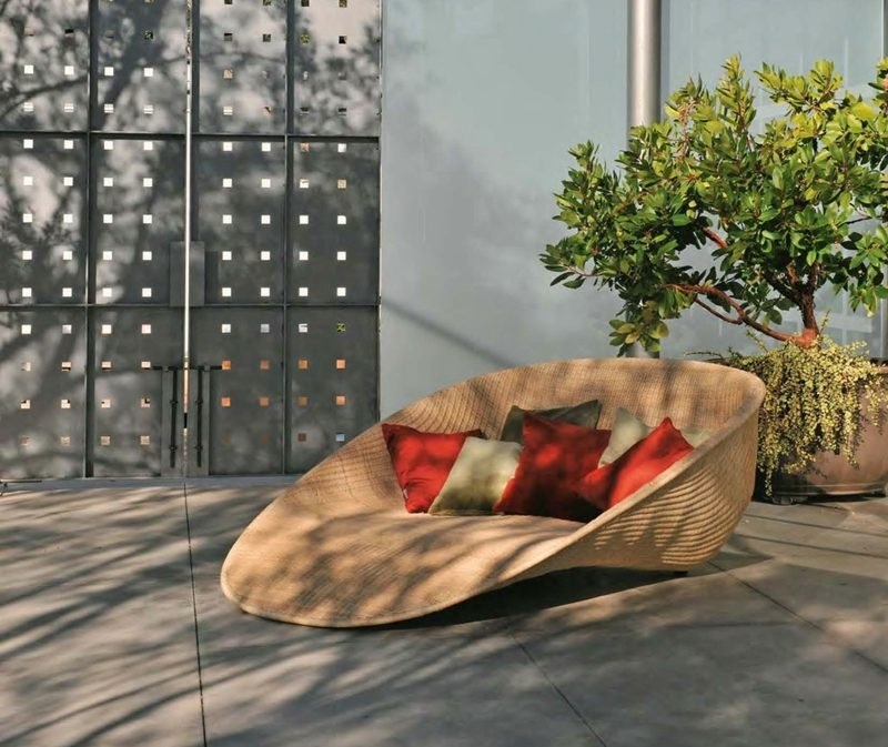 loungemöbel outdoor wunderschoene liege rattanmöbel garten