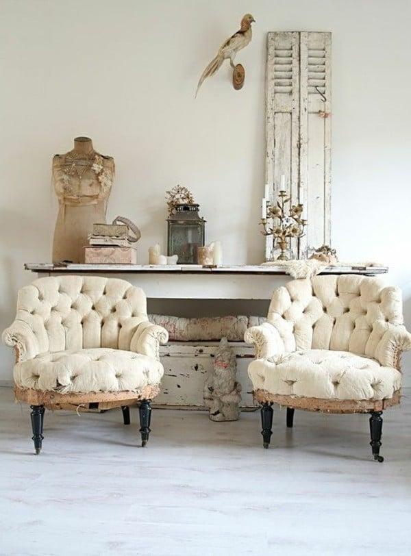 möbel landhausstil weiß antiquitäten sofa sessel design charme landhausmöbel accessoires dekoideen
