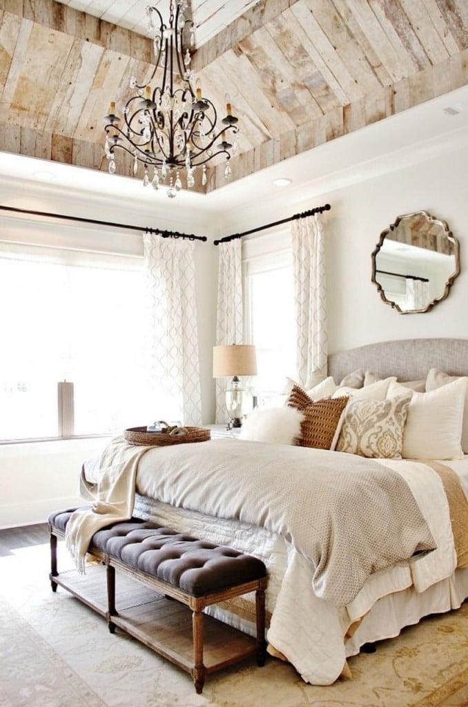 möbel landhausstil weiß bett holz country look schlafzimmer einrichten dekoideen landhaus