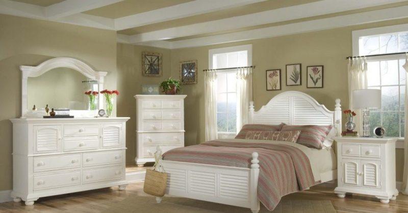 möbel landhausstil weiß holzbett schlafzimmer einrichten design landhaus möbel