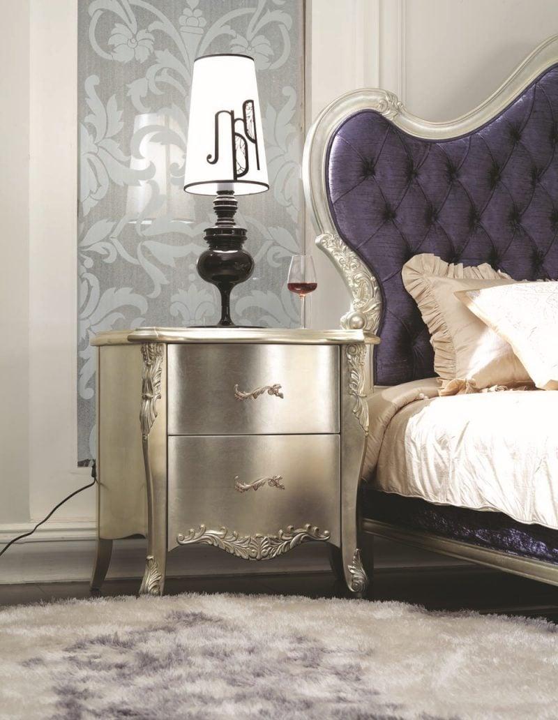 möbel landhausstil weiß silber kombination schlafzimmer einrichten dekoideen