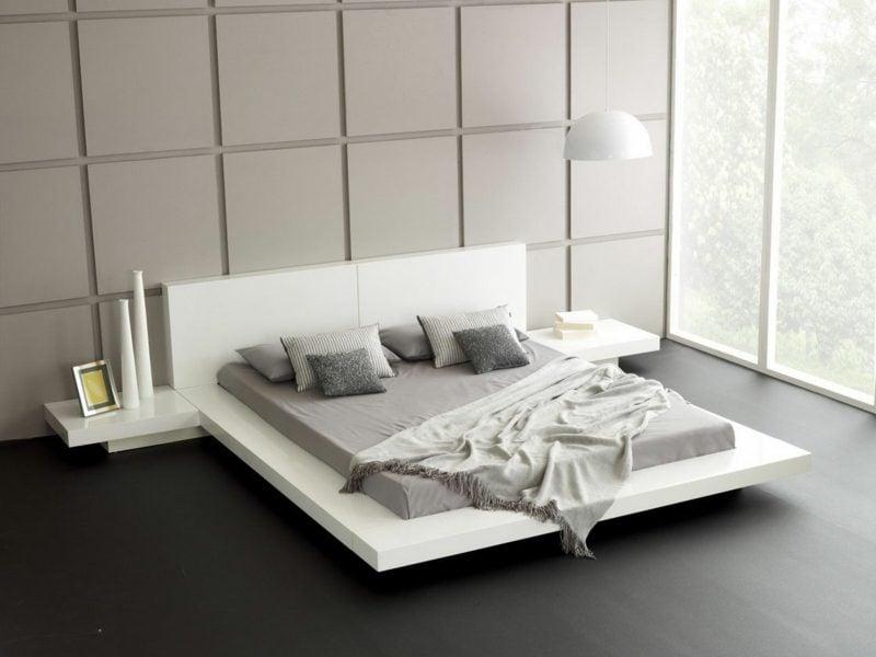 Schlafzimmer einrichten minimalistisch geometrische Formen