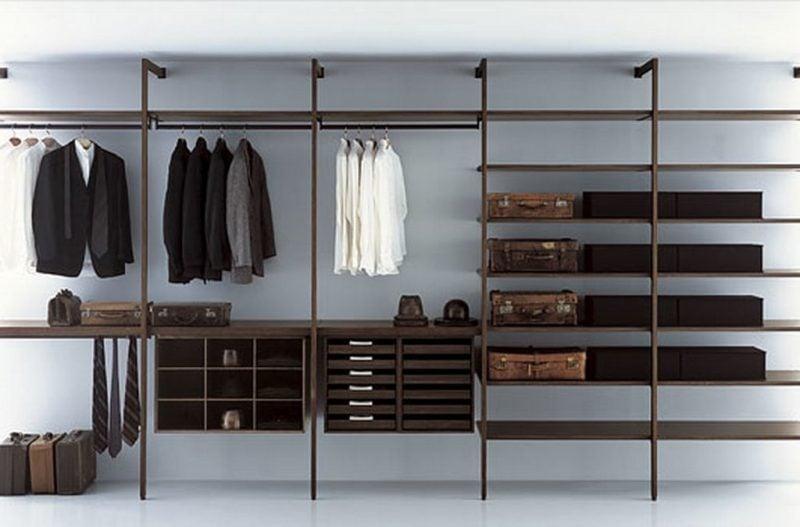 moderne Kleiderschrank Regalsysteme: Kleiderständer, Anzüge für Männer