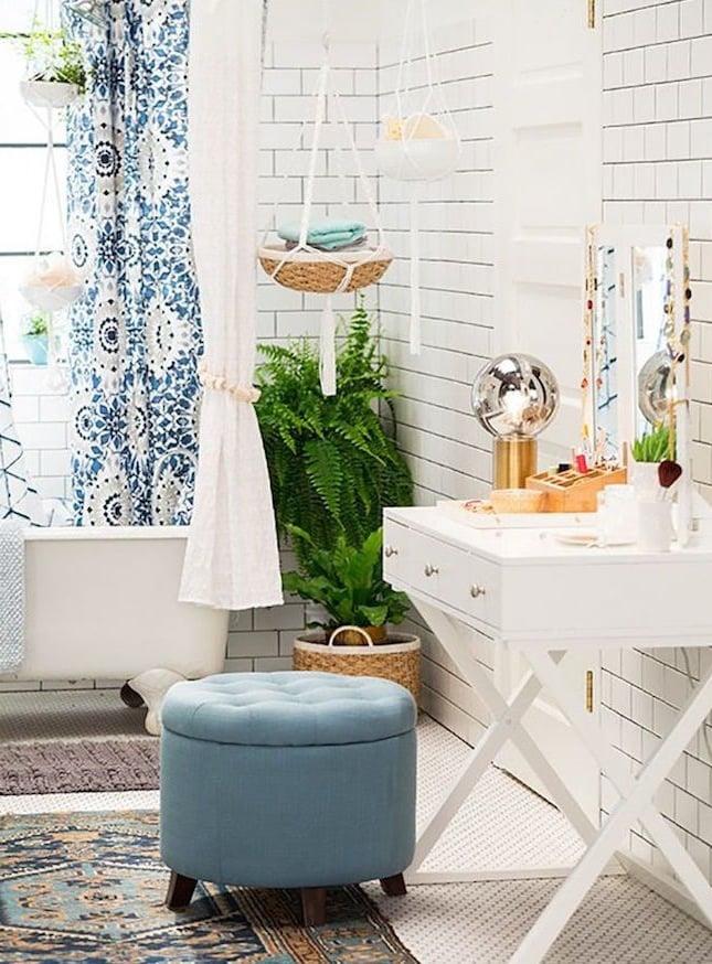 moderne badezimmer ideen möbel hocker blau bad ideen