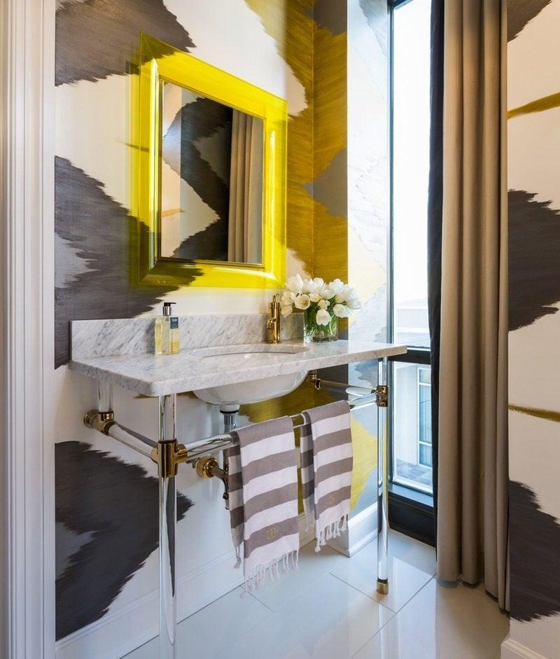 moderne badezimmer ideen spiegel vorhang schönes bad ideen